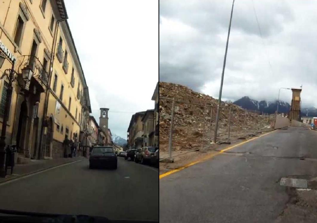VIDEO: le immagini choc,  lo stesso percorso prima e dopo