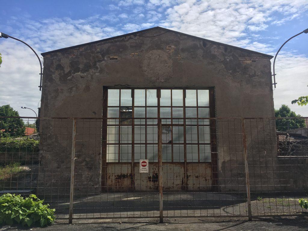 La facciata del padiglione