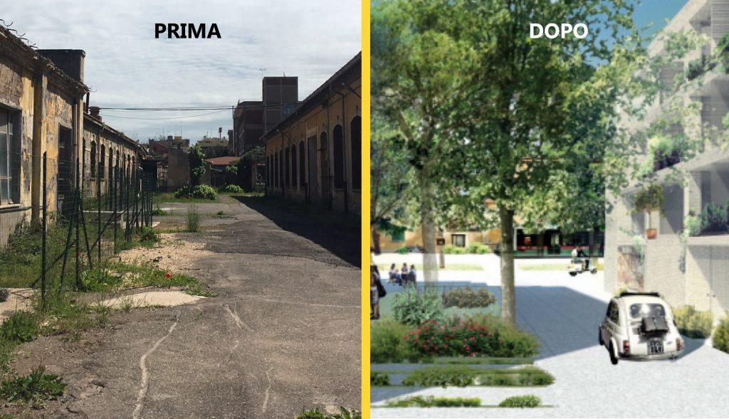 Il progetto di riqualificazione dei giardini