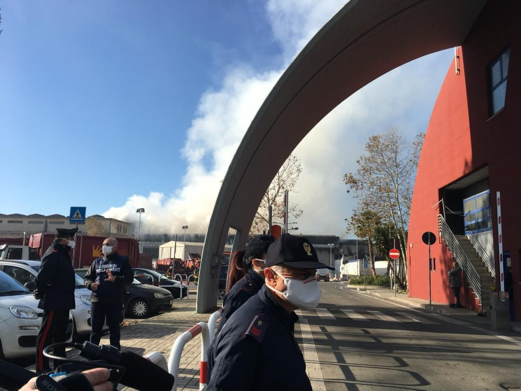L'incendio al Tmb di via Salaria dello scorso 11 dicembre