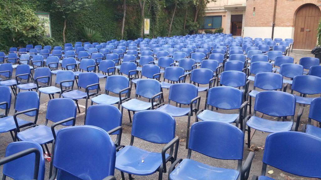 L'area all'aperto del cinema Tiziano
