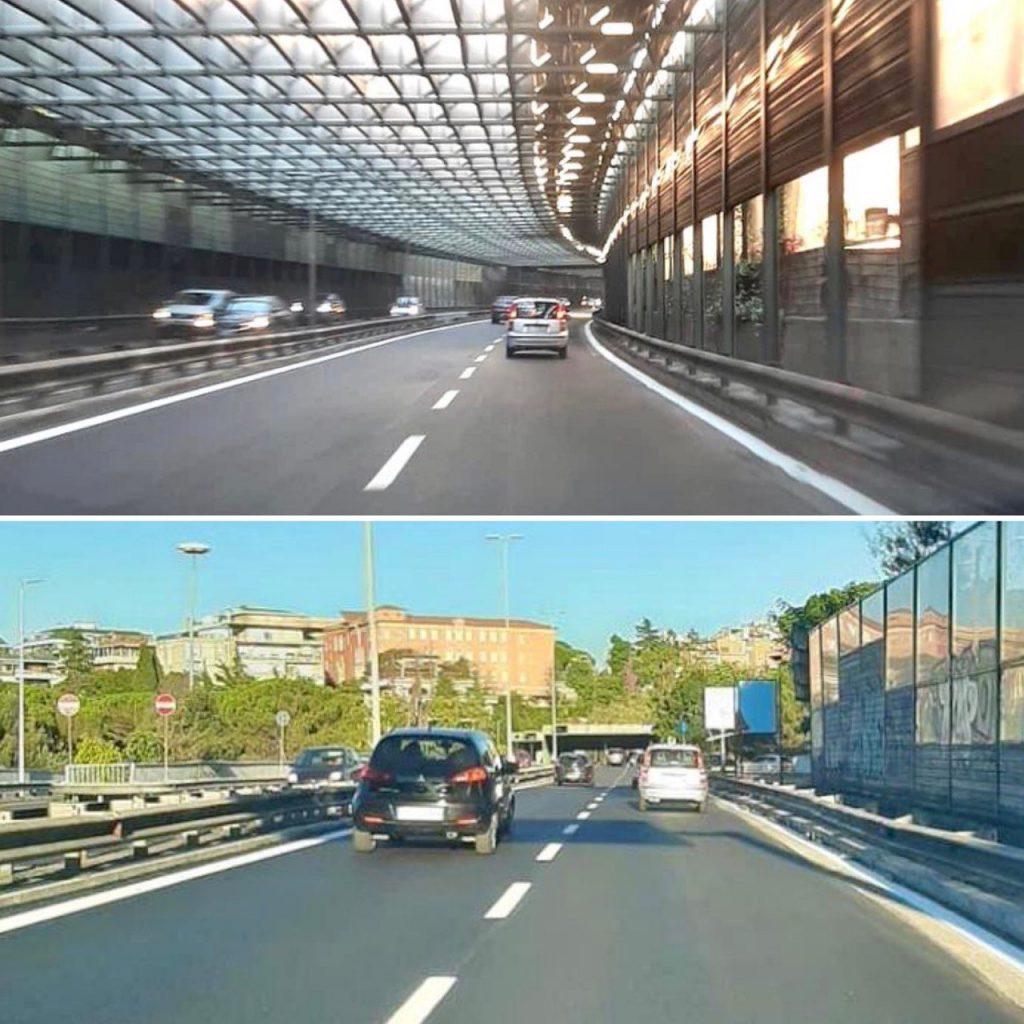 Corso Francia e l'ingresso della tangenziale Esst