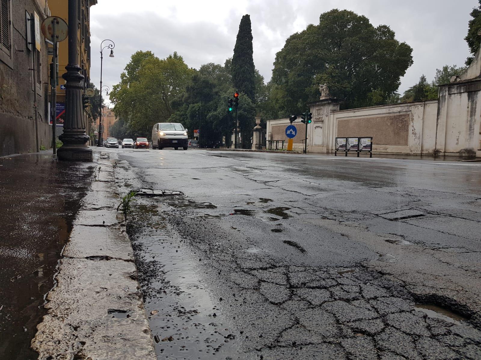 Maltempo Parioli via Pinciana