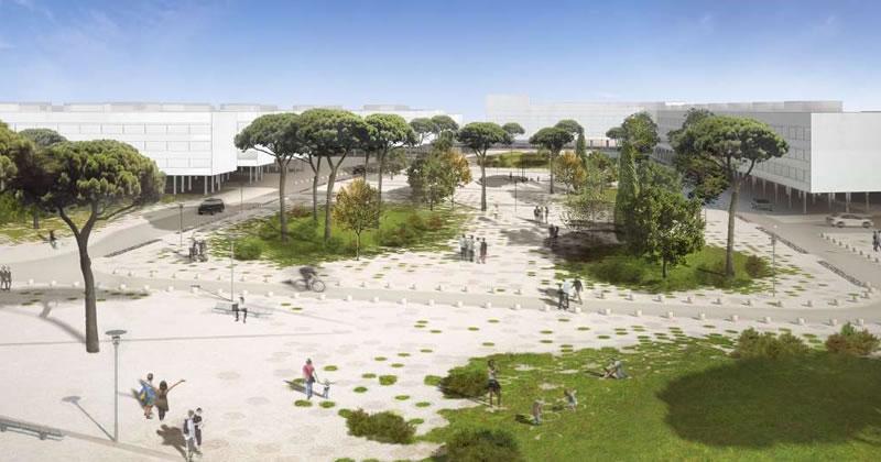 Un rendering del progetto sul Nuovo Villaggio Olimpico
