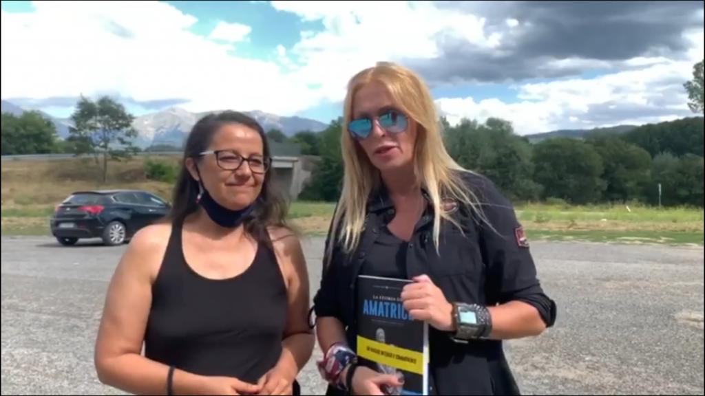 """Emma Moriconi, autrice de """"La Storia di Amatrice"""",  con Roberta Bruzzone"""