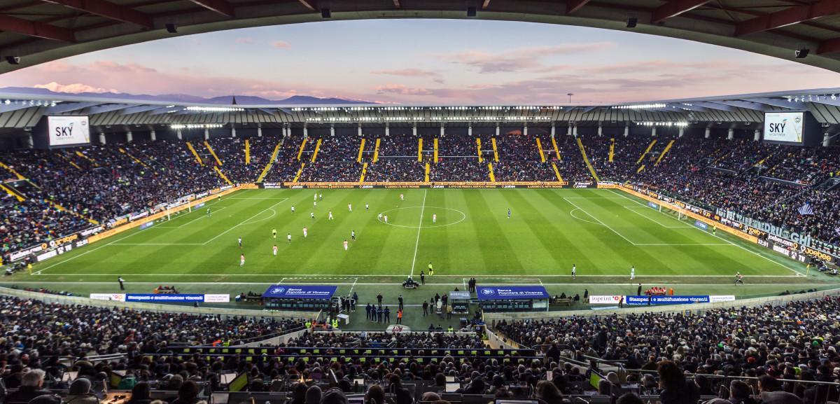 L'interno della Dacia Arena, fonte Udinese.it