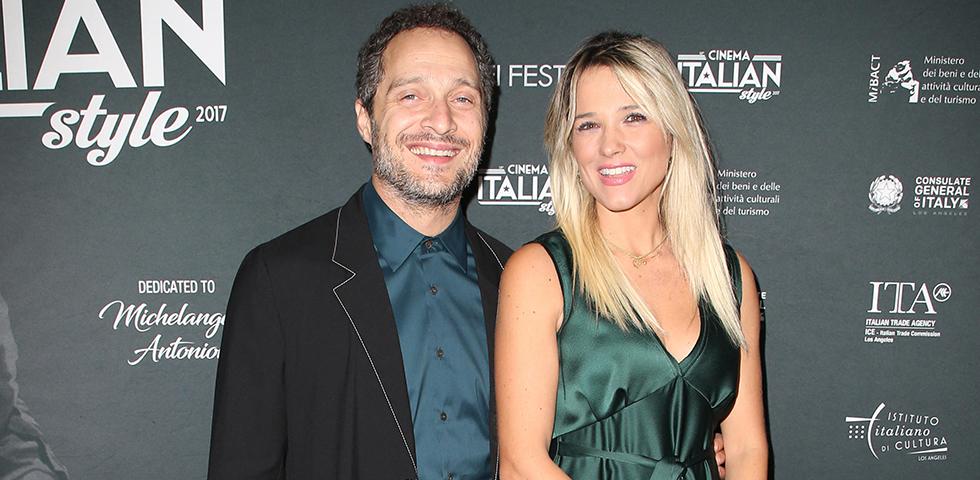 Francesca Barra con l'attuale marito, l'attore Claudio Santamaria
