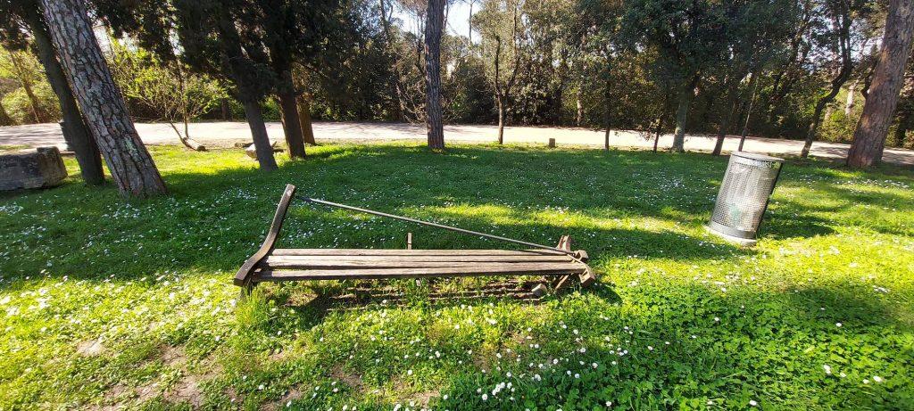 Una panchina di Villa Glori