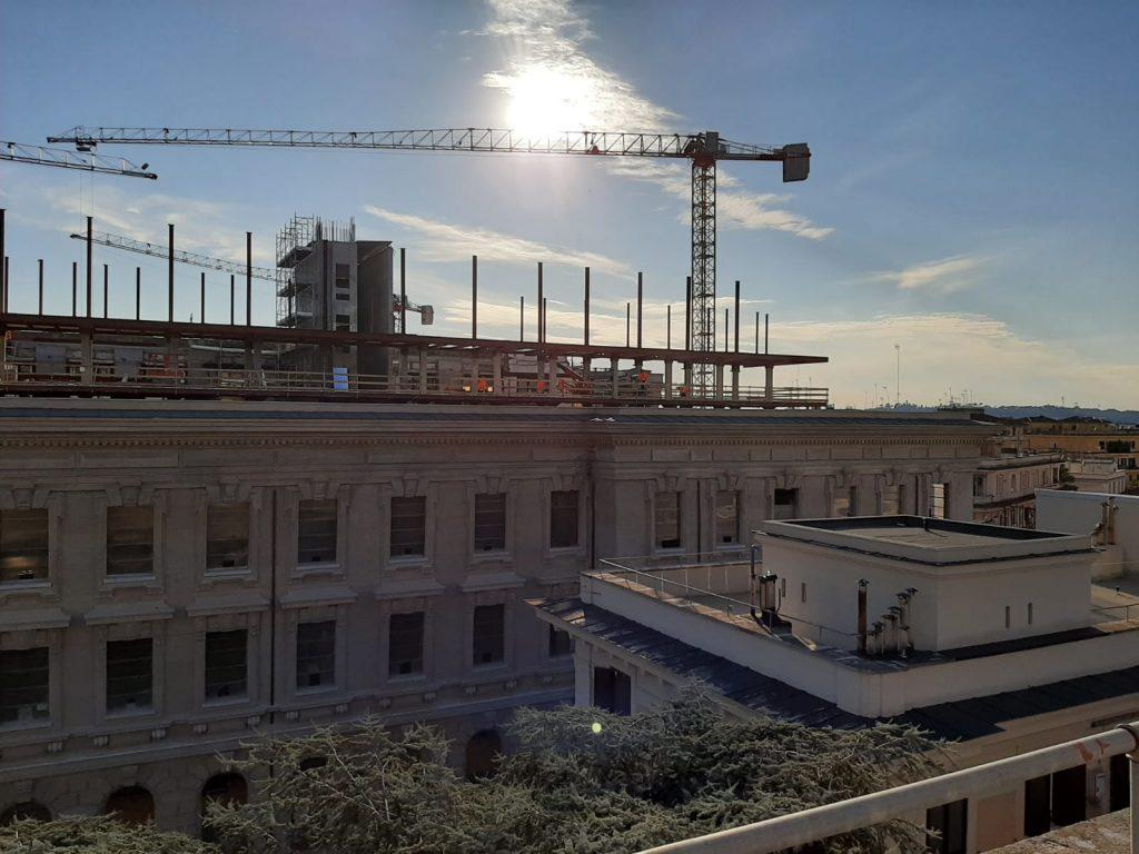 Il cantiere sull'ex Zecca di piazza Verdi