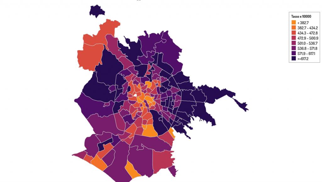La mappa dei casi attivi a Roma del Seresmi