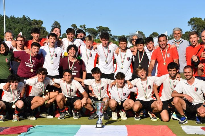 La squadra campione d'Italia al completo