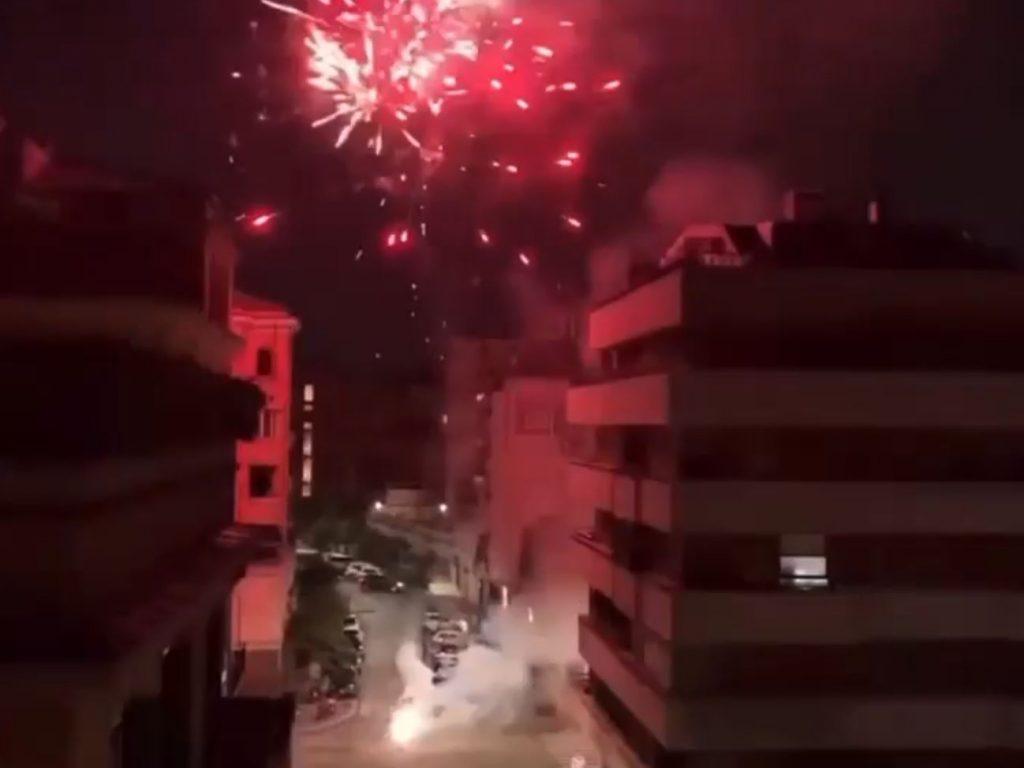 Un fermo immagine del filmato pubblicato sulla pagina Facebook Parioli e dintorni