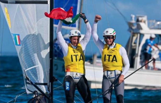 I campioni di vela Caterina Banti e Ruggero Tita