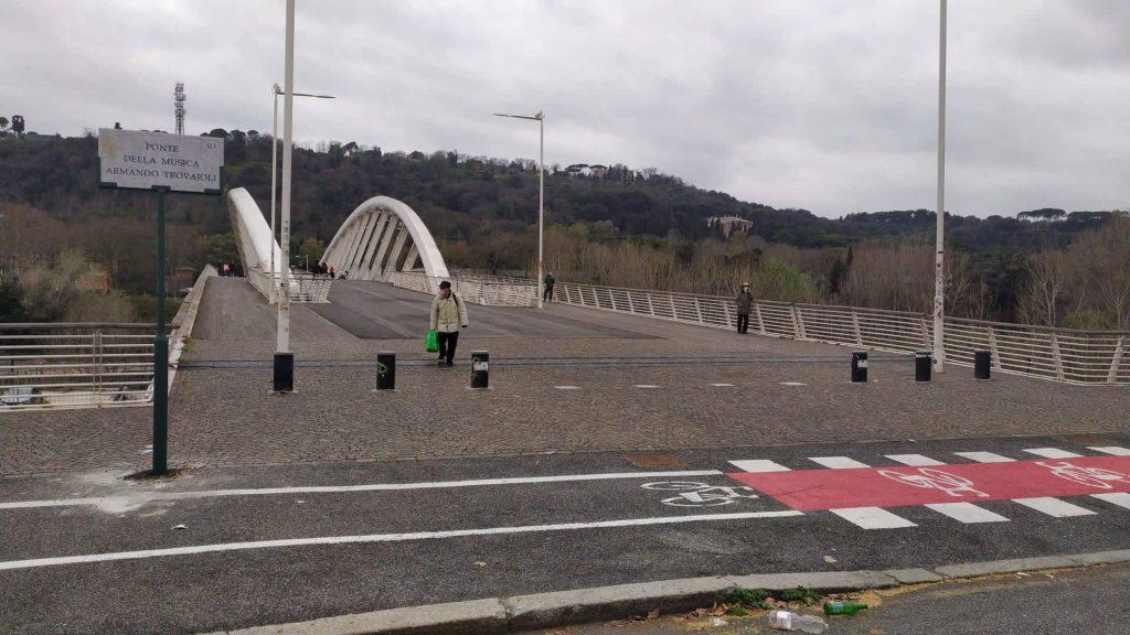 Il Ponte della Musica in uno scatto recente - foto dal profilo Facebook di Sandra Naggar