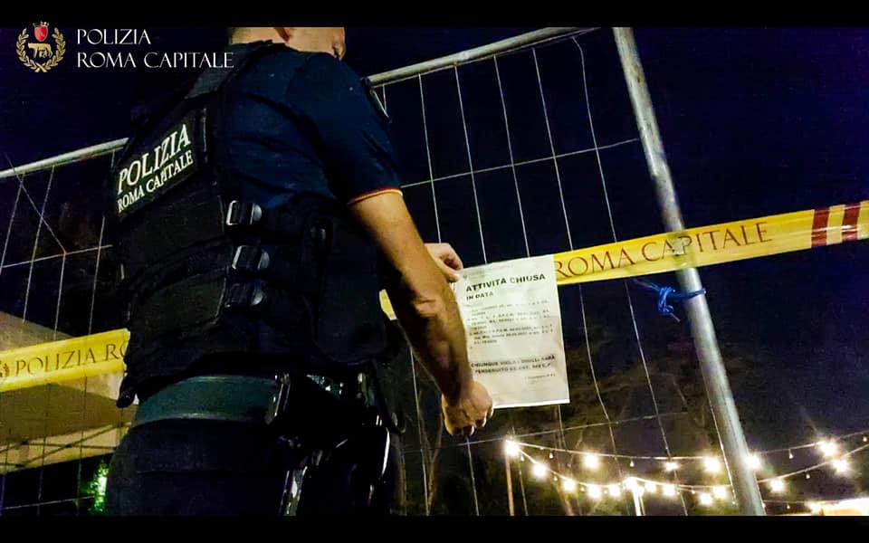 I sigilli della polizia locale al Giardino del Diamante