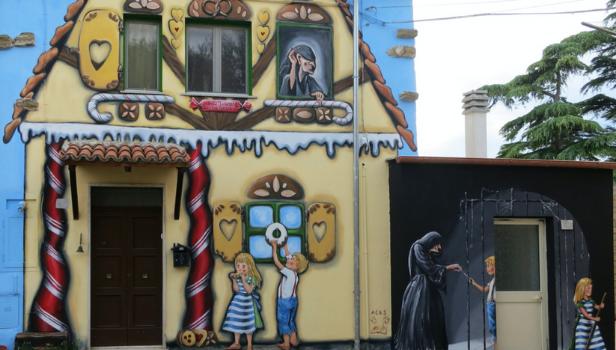 Murale di Isabella Modanese e Cecilia Tacconi ( primo settembre 2018)