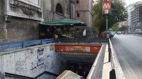 La stazione della metro A Flaminio