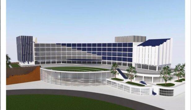 Un rendering del Nuovo Ospedale Tiburtino