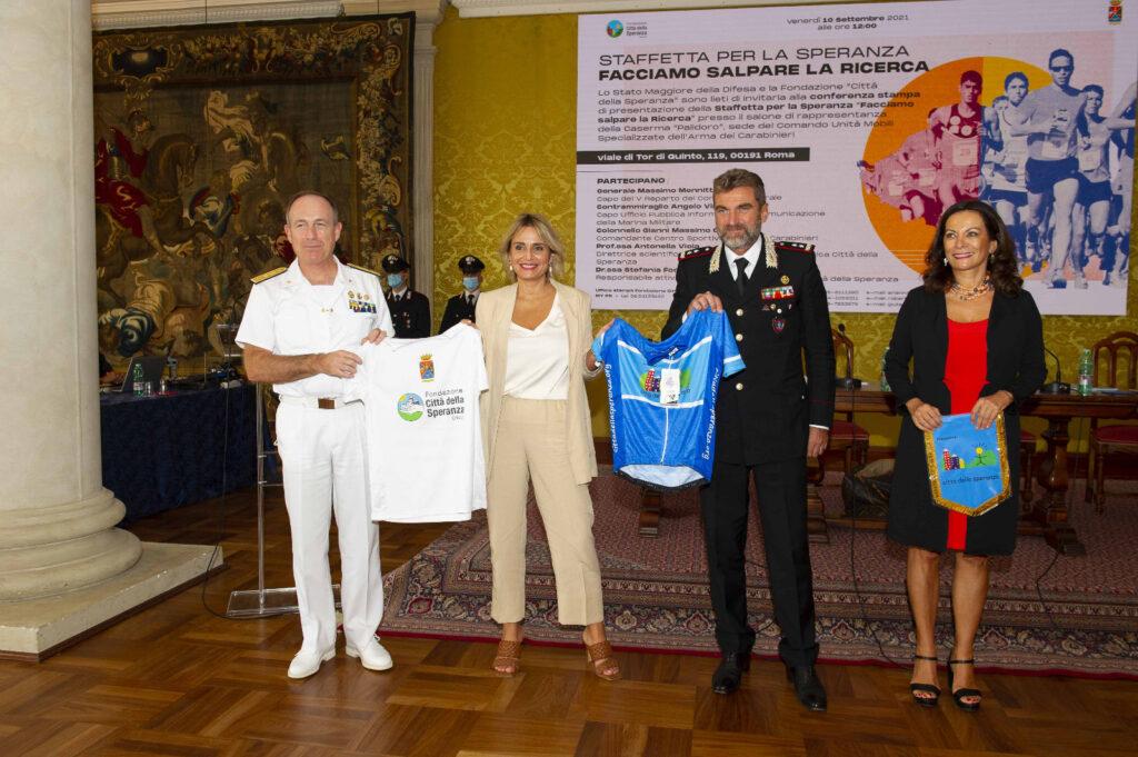 I partecipanti all'evento, da sinistra: Angelo Virdis, Antonella Viola, Massimo Mennitti e Stefania Fochesato