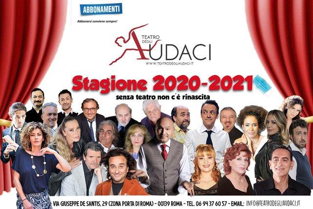 La stagione 2020/21 del Teatro degli Audaci