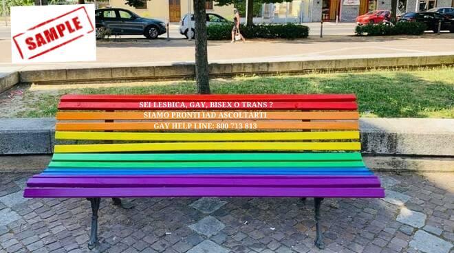 Un esempio di panchina arcobaleno che sarà installata nel III Municipio