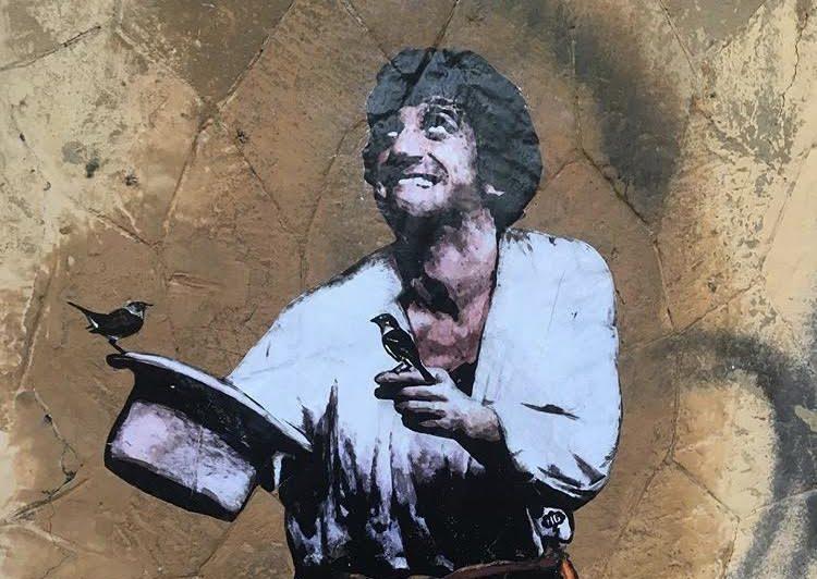 Il murale per Gigi Proietti (foto dal profilo Instagram di Harry Greb)