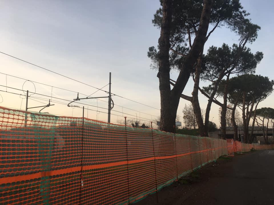 L'area su cui verranno installate le barriere anti-rumore tra via Val D'Aosta e via Val Brembana