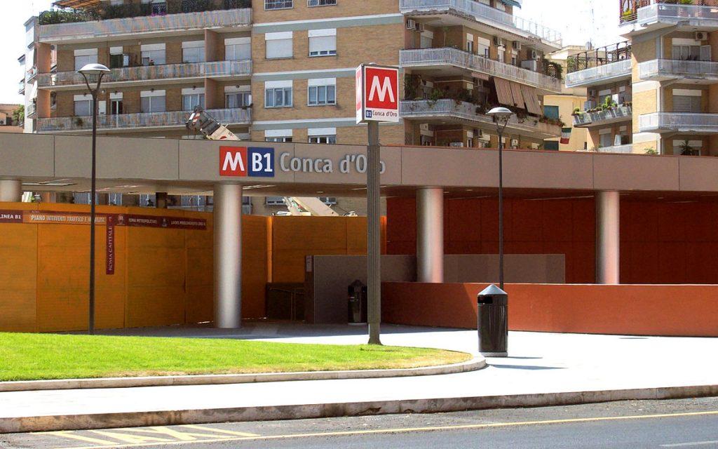 La stazione della Metro B a piazza Conca d'Oro