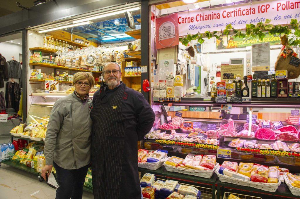 Antonio Canestri e Nicla al Mercato Trieste.