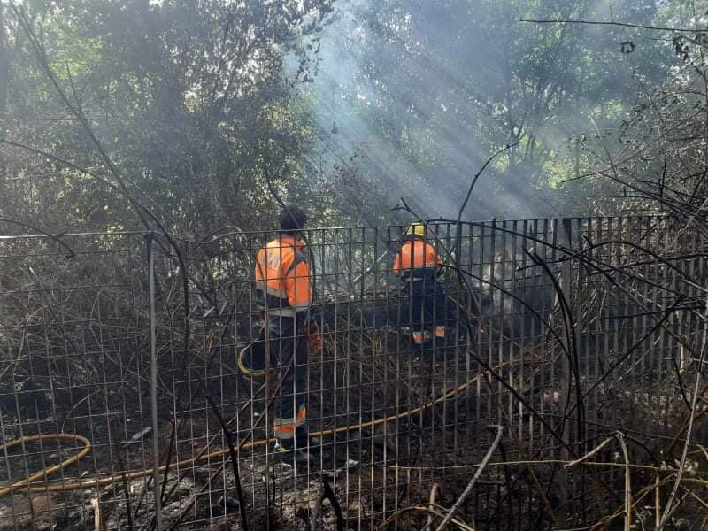 L'incendio a Ponte Nomentano
