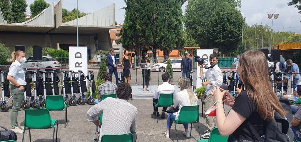 La cerimonia a via Corrado Alvaro - Foto dalla pagina Facebook del consigliere Fabrizio Bevilacqua