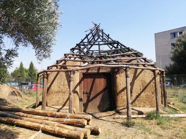La casa protostorica di Fidene (foto dal profilo Facebook di Gherardo Dino Ruggiero)
