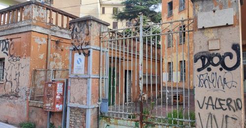 Ex Scuola Parini al Tufello (Foto dal profilo Facebook di NSA Protezione Civile OdV)