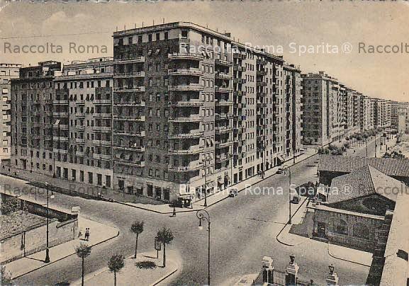 Viale Ippocrate nel 1958 (credit foto: Roma Sparita)