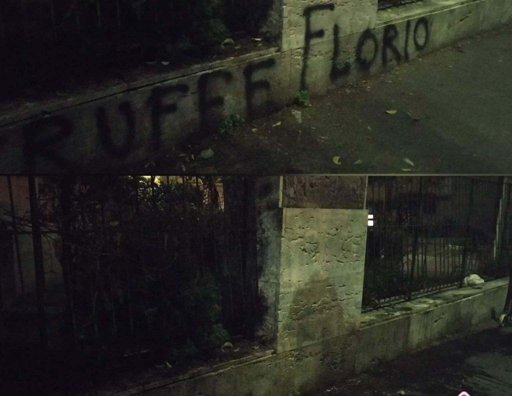 Il muro della scuola Winckelmann ripulito dalle scritte