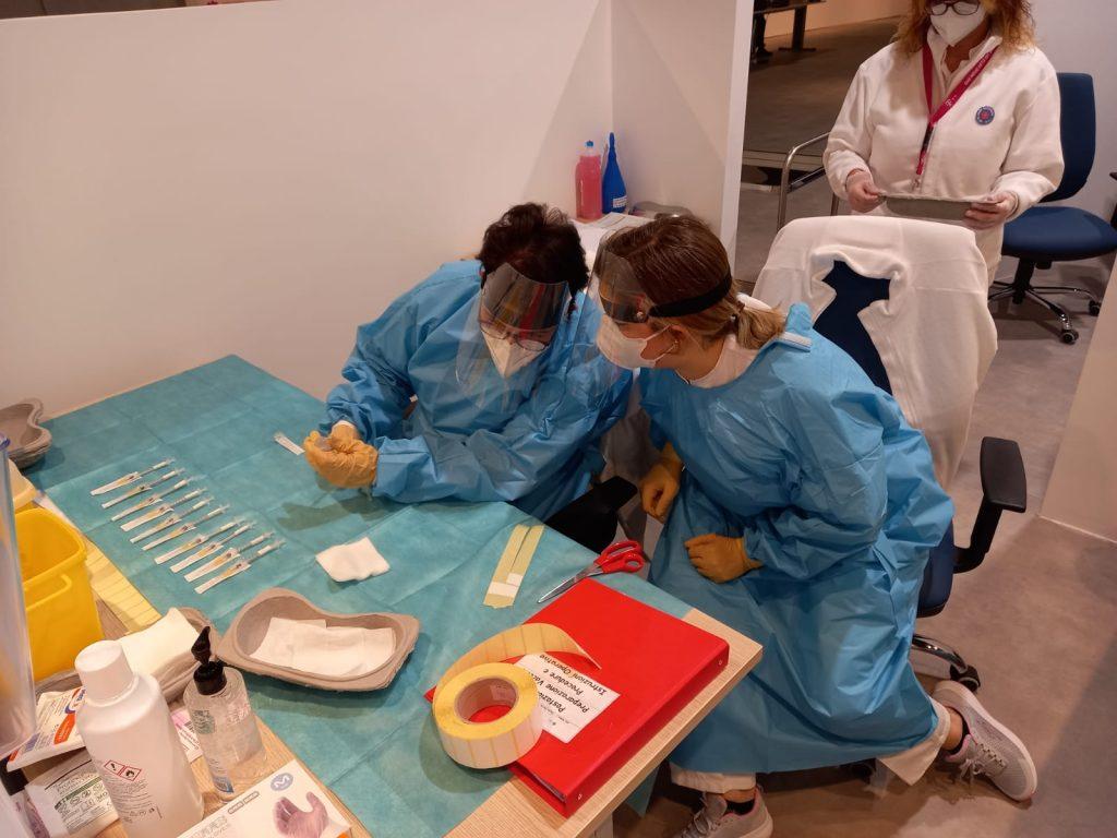 La preparazione dei vaccini all'Auditorium parco della Musica