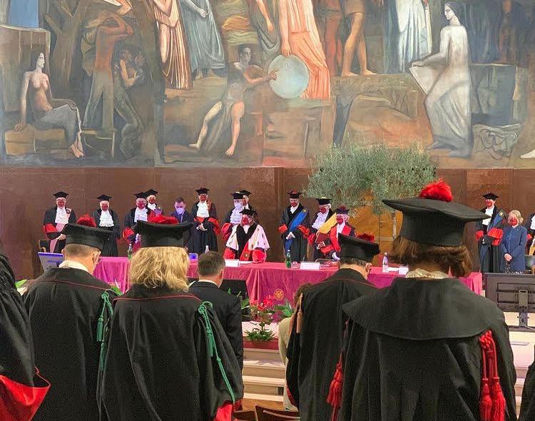 La cerimonia di inaugurazione alla Sapienza