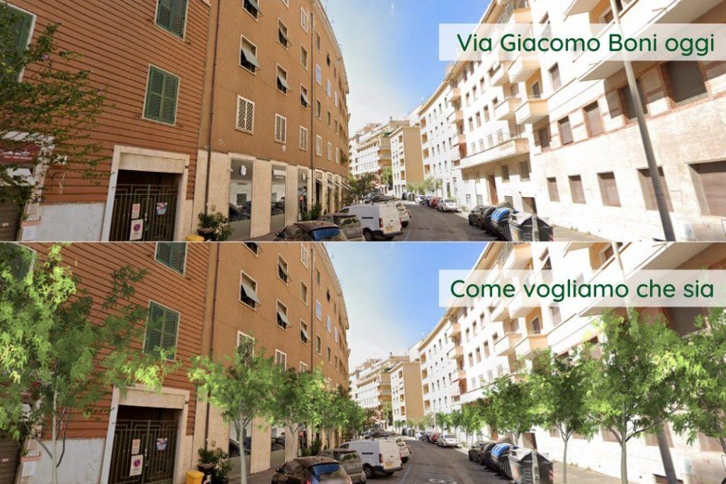 Via Giacomo Boni, una delle strade coinvolte nel progetto