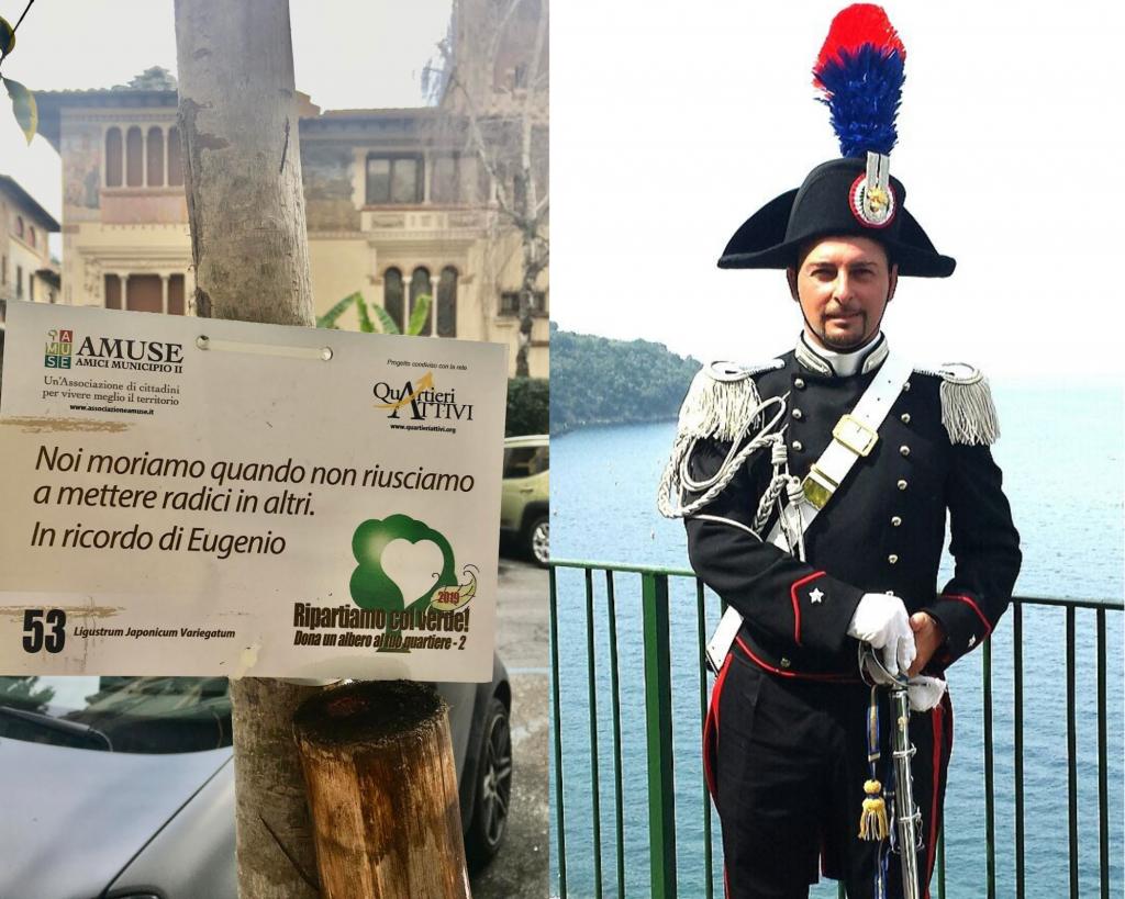 Il maresciallo Eugenio Fasano e la targa a lui dedicata