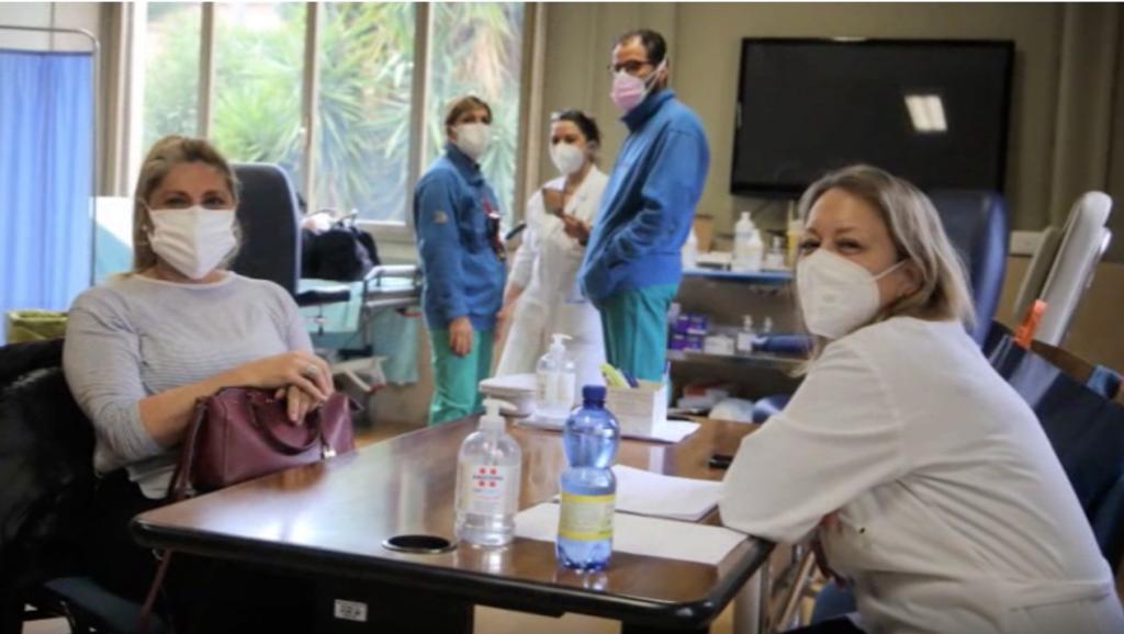 Vaccinazioni al centro Eastman (foto dal sito del policlinico Umberto I)