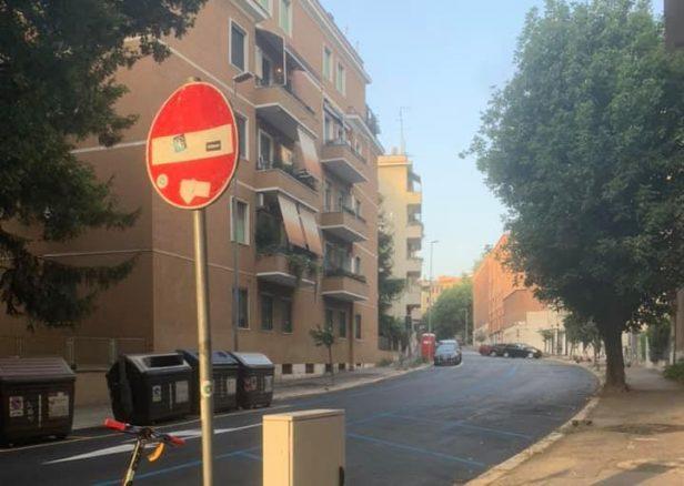 """Via Salento (foto di Claudio Parisi dal gruppo """"Quelli di piazza Bologna"""")"""