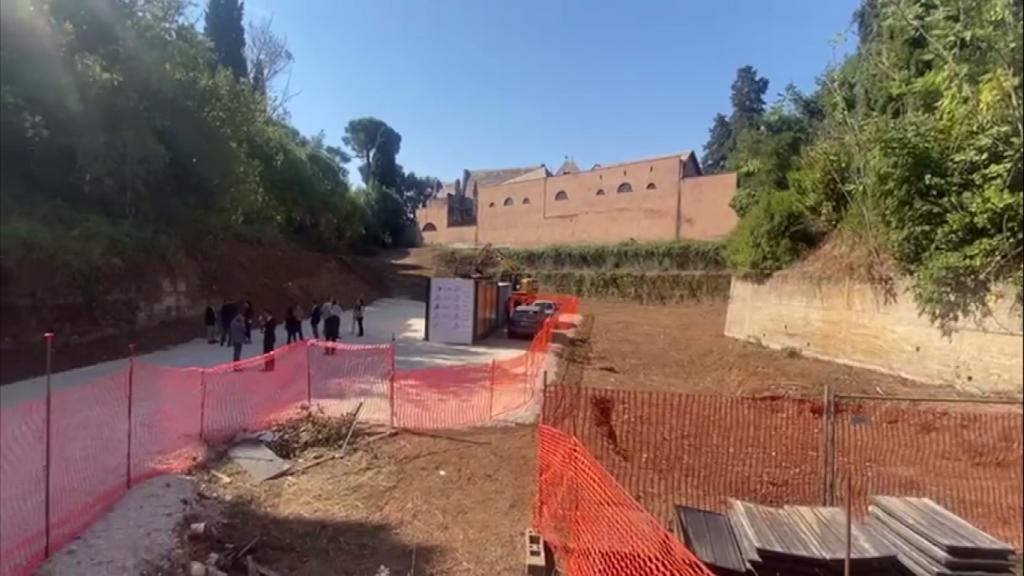Il cantiere a Villa Torlonia