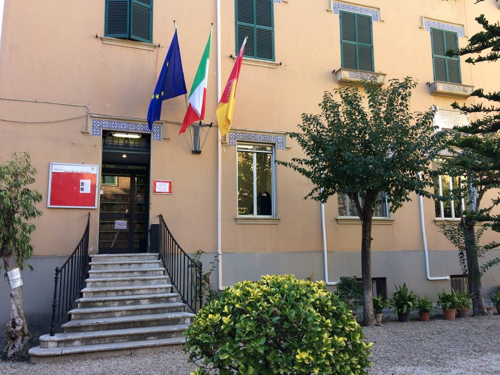 La biblioteca di via Giordano Bruno