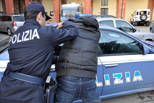 Arresto della polizia. Foto di repertorio