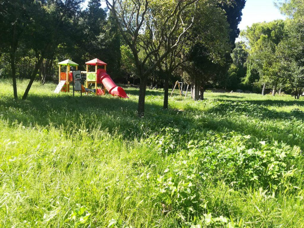 Il parco di Via Gomenizza