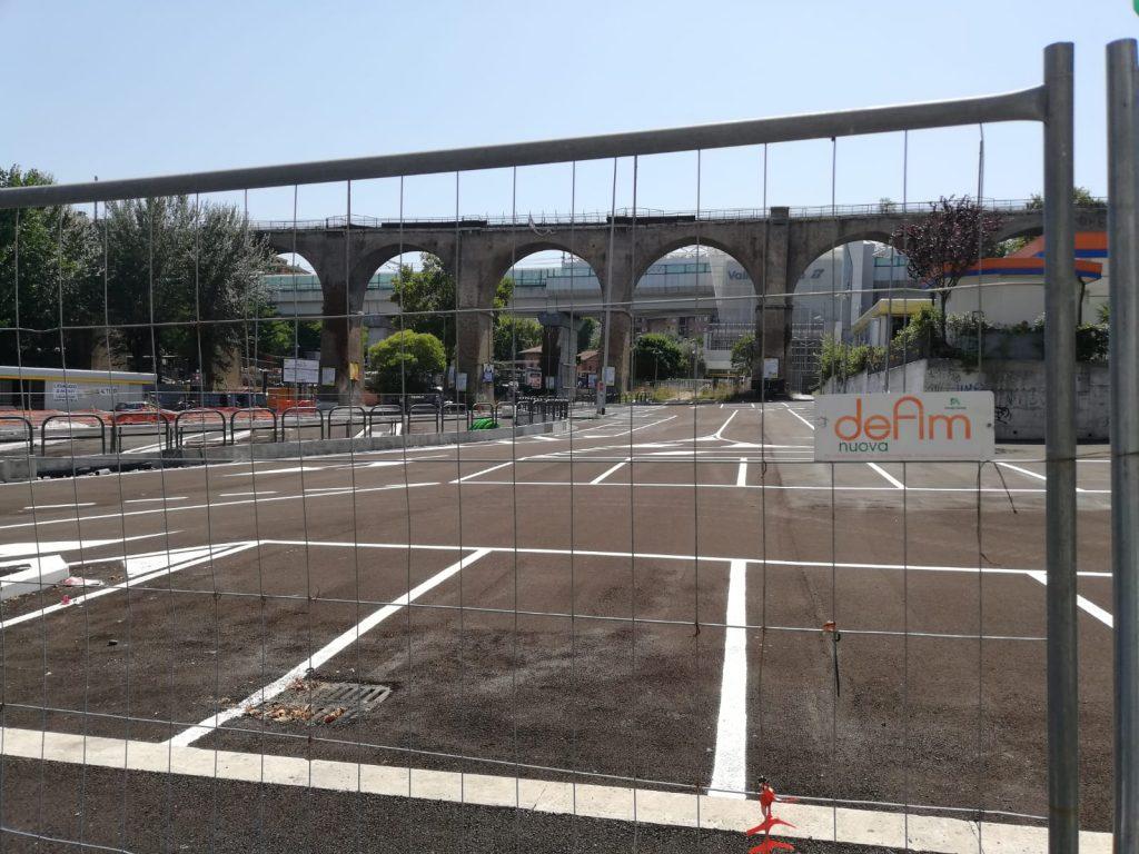 L'area destinata al parcheggio di via Giuseppe Di Bartolo
