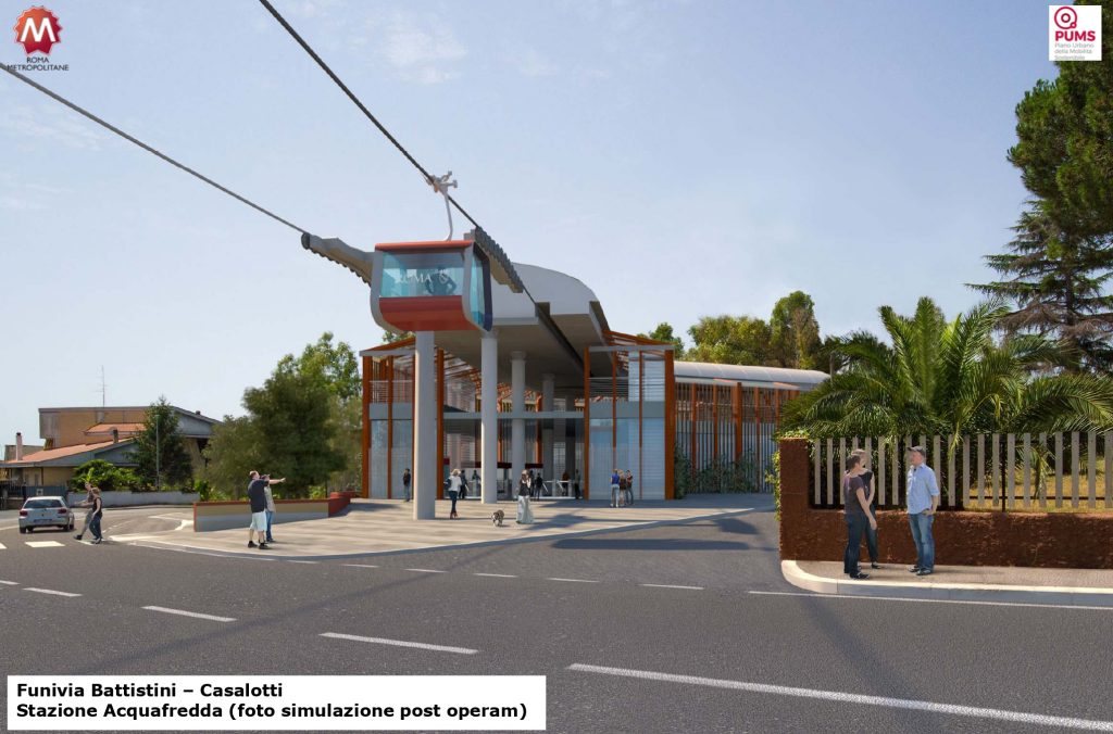 Il rendering della stazione Acquafredda