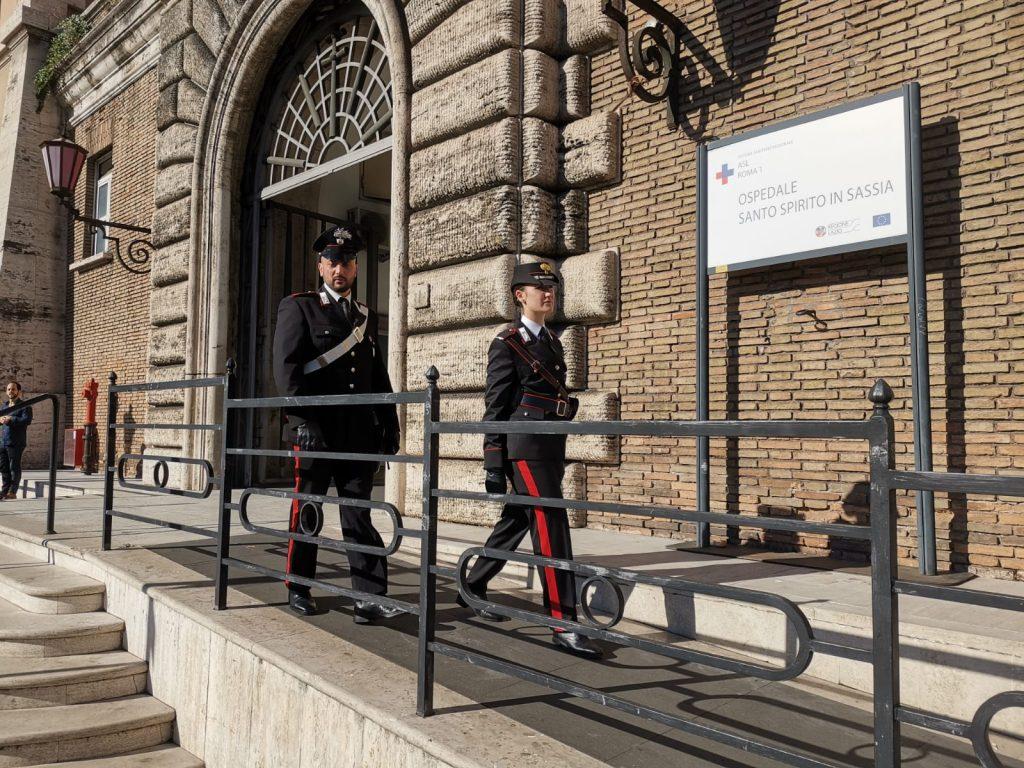 La caserma dei carabinieri di Roma San Pietro