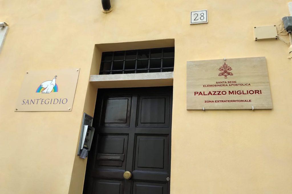 L'ingresso di palazzo Migliori