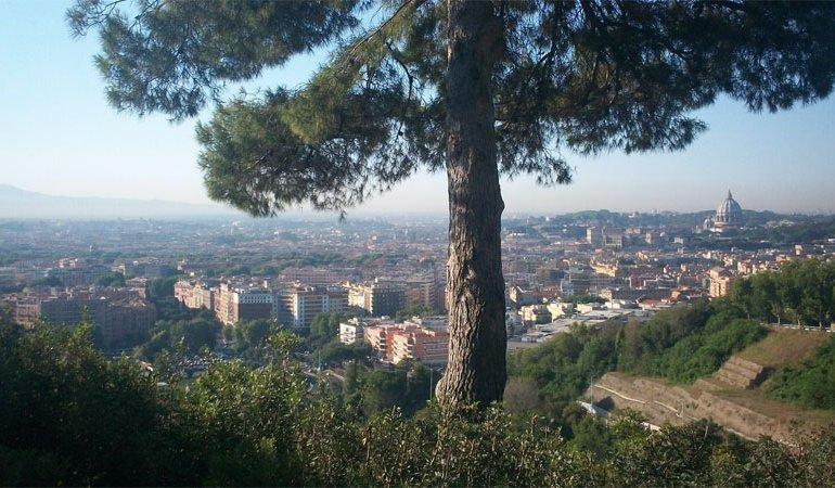 Vista dal parco di Monte Mario